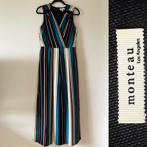 NWOT striped jumpsuit